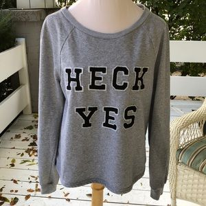 """Honey Punch """"Heck Yes"""" Gray Sweatshirt"""